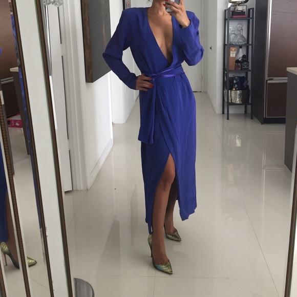 Gorgeous Vintage Yves Saint Laurent Blue Dress. M_5861602ffbf6f91cfa00ca5a