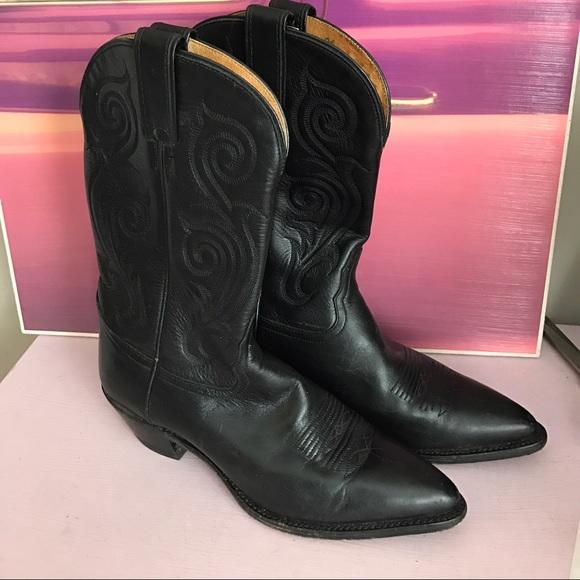 e69722ffb8d TONY LAMA Vintage Women's Black Cowboy Boot
