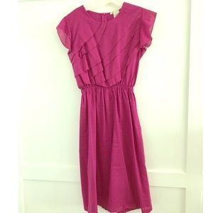 Shabby Apple Dresses & Skirts - Shabby Apple fuschia ruffle top dress.