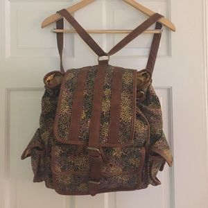 NWOT Cooperative canvas backpack