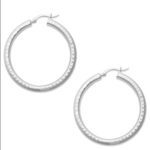 NEW Giani Bernini Sterling Silver Hoop Earrings