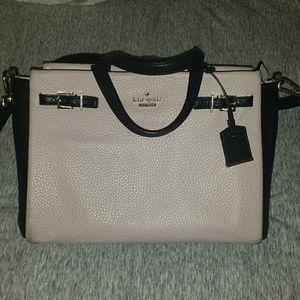 kate spade Handbags - Kate Spade Lanie Pebbled Leather Satchel Blush