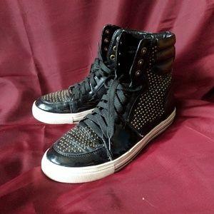Black Poppy Shoes - Pacsun Black Poppy Hightop Sneakers