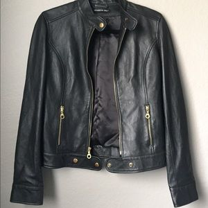 Members Only Moto Leather Jacket