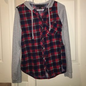 Polly & Esther Tops - Soft flannel sweatshirt