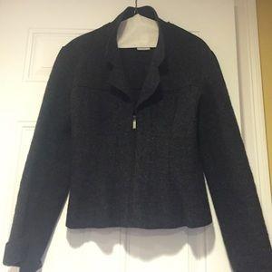 CHANEL 100% gray wool coat Sz 40