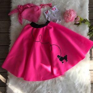Other - Hot Pink Poodle Skirt Set