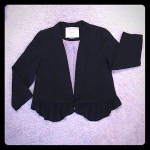 Anthropologie Cartonnier black blazer jacket S