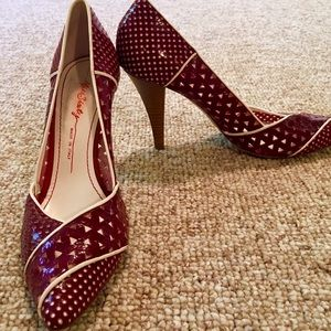 Miss Sixty Shoes - Crimson Miss Sixty Retro Pointed Toe Pumps