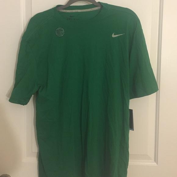 Green Nike dri fit cotton tee. Price firm.