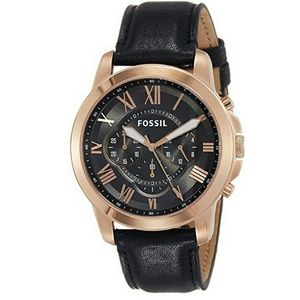 NWT Fossil rose gold chronograph Stainless watch