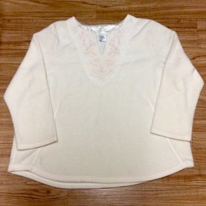 Just My Size Tops - Cozy Fleece V-Neck Pullover