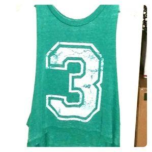 Derek Heart Tops - *Green #3 tank*