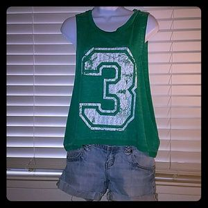 Derek Heart Tops - *Green #3 layering tank*