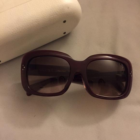 e44fd632d641 Celine Accessories - Céline dark red sunglasses