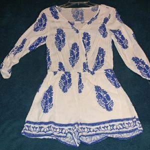 Dresses & Skirts - Griffin Bohemian Block Print Romper
