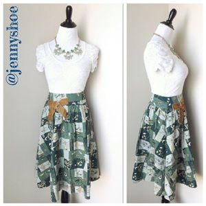 Anthropologie Dresses & Skirts - {anthropologie} bicycle print skirt