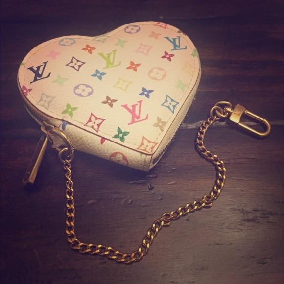 273ccdf1c34e Louis Vuitton Accessories - Authentic Louis Vuitton Heart Multicolor Coin  Bag