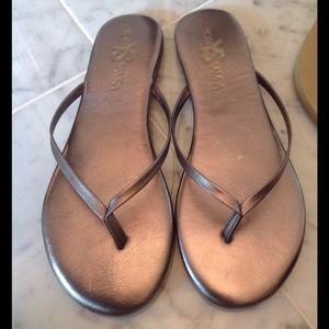 Yosi Samra Shoes - Yosi Samara Pewter Sandals