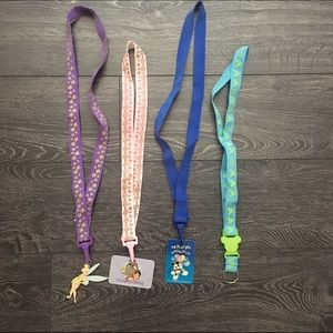 4 Disney Pin Lanyards