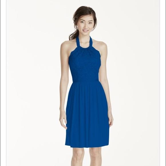 bfd1731ad55 David s Bridal Dresses   Skirts - Davids Bridal bridesmaid dress. Royal blue .