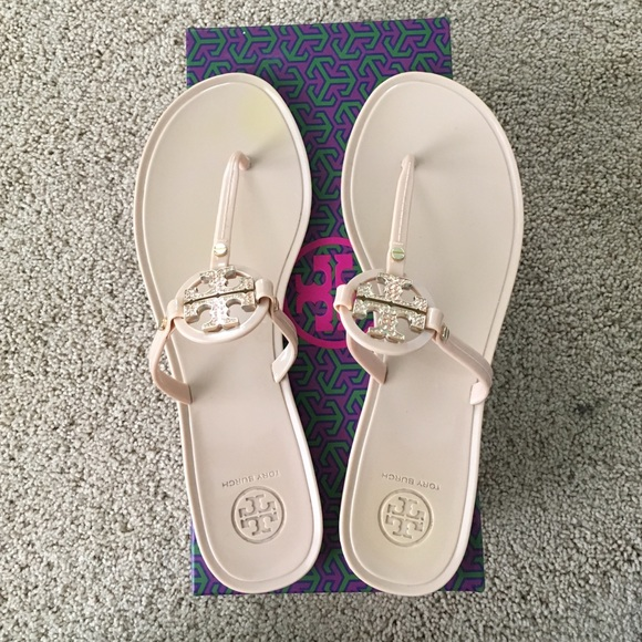 48a49ce2aa8d Tory Burch Mini Miller Jelly Thong with Crystals. M 586199088f0fc4342d150fde