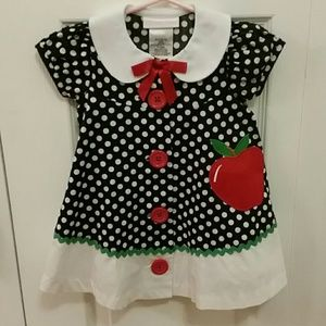 Bonnie Baby Other - 1st Day PreSchool Apple Dress Adorable NWOT 12 Mos