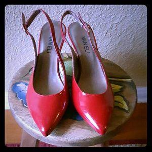 Vaneli Shoes - Van Eli Red Sling Back Patent pump