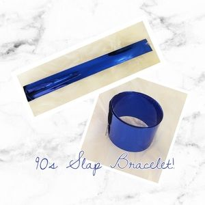 Jewelry - Vintage 90s Blue Slap Bracelet