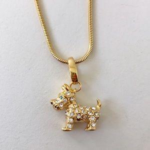 Spartina 449 Jewelry - Spartina 449 Gold & Rhinestone Dog Charm