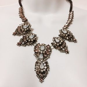 Jewelry - Pale Pink & Green Art Deco Inspired Necklace