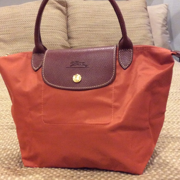 SALE - Longchamps le Pliage tote in pumpkin