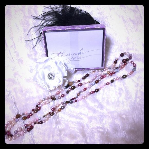 "🎈SALE 30"" Multi-Colored Pearl Necklace [JW-91]"