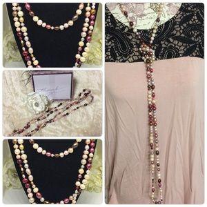 """NuBella Jewelry - 🎈SALE 30"""" Multi-Colored Pearl Necklace [JW-91]"""