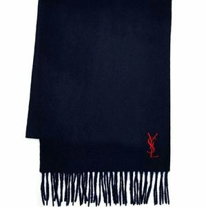 Yves Saint Laurent Other - YVES SAINT LAURENT Embroidered Logo Wool Scarf