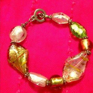 SALE Blown glass necklace