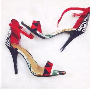 Chinese Laundry Shoes - Chinese laundry tribal print open toe heels