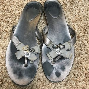 Coach Shoes - Coach Pewter Rhinestone Sandals