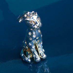 Jewelry - Sterling Silver jaguar🐯w/bling-Estate piece
