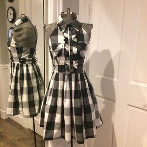 Pretty Good Dresses & Skirts - Adorable Black & White Plaid Halter Dress