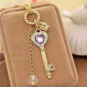 Jewelry - Key Purple Heart Necklace