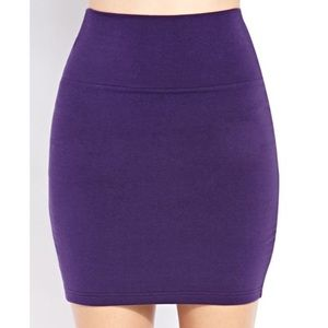Cotton On Purple Bodycon Skirt