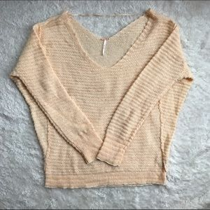 Free People Linen Wool Oversized Sweater Size M
