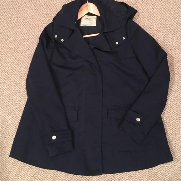 Zara - Zara navy blue raincoat from A's closet on Poshmark