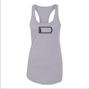 CLEARANCE💋 NWT Low Battery Icon Racerback Tank