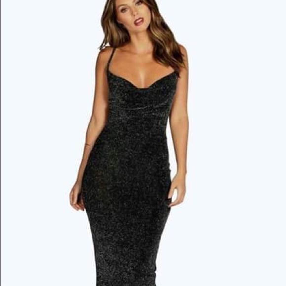 42c10433239a Boohoo Dresses   Grace Metallic Strappy Midi Bodycon Dress   Poshmark