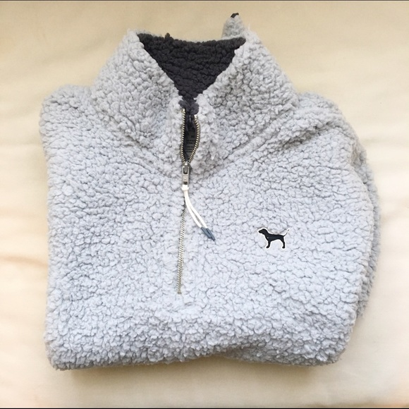 PINK Victoria's Secret - VS PINK Sherpa Quarter Zip from Claire's ...