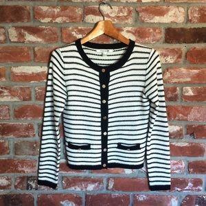 B&W Striped Cardigan