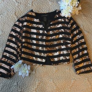 MM Couture Tops - Sequenced Cropped Blazer