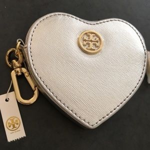 Tory Burch Heart Key Fob/Coin Purse